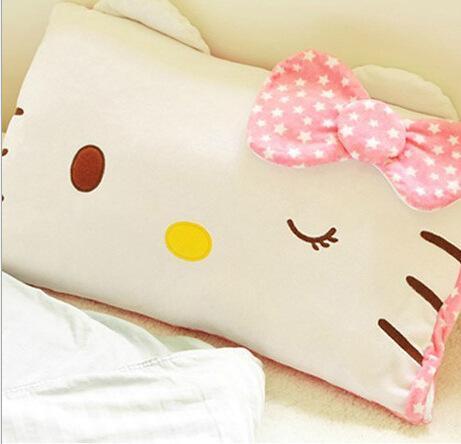 Pillow Case Designs For Baby Boy: Baby Girl Boy Children Hello Kitty Face Soft Pillowcase Pillow    ,