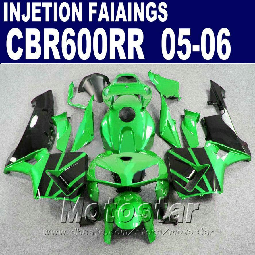 HONDA CBR 600 RR için yeşil fit Enjeksiyon Kalıbı 2005 2006 cbr600rr 03 04 cbr 600rr kaporta kiti IX4F kaporta