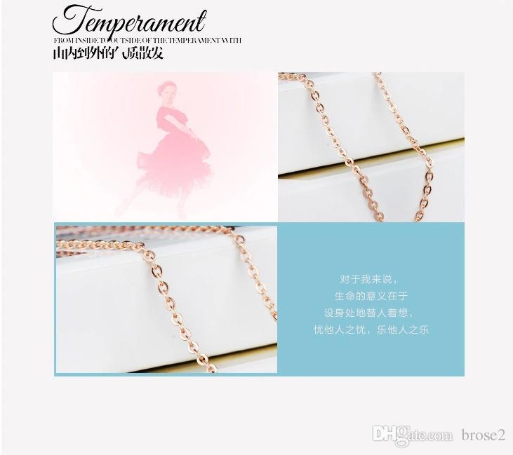 925 sterling silver rose gold 18-inch cable chain necklace female Korean jewelry items O word chain manufacturers wholesale