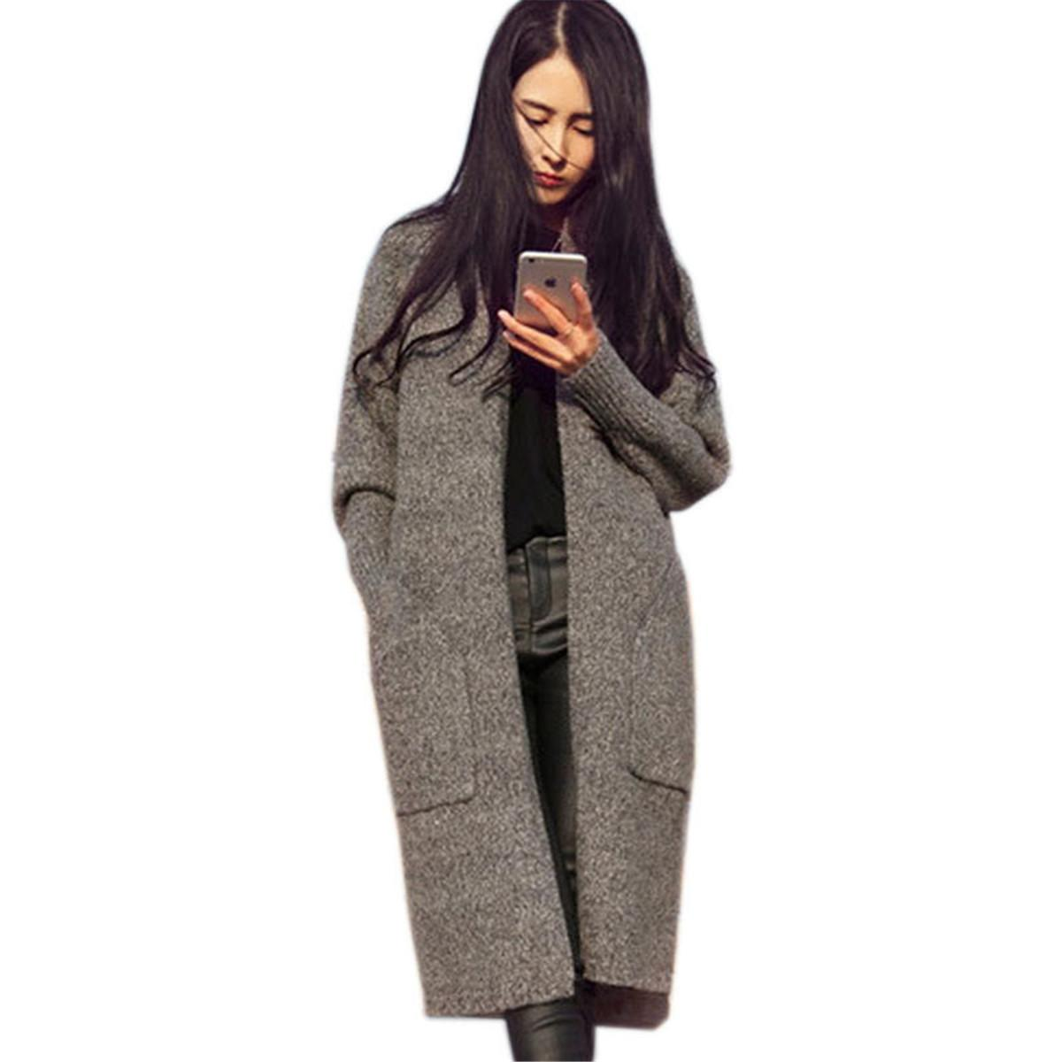 Best 2015 New Women Long Cardigans Autumn Winter Thicken Jacket ...