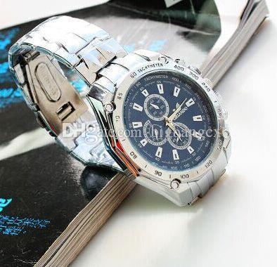 f8edce76adb Compre Luxo ORLANDO Relógio Masculino Relógio De Aço Inoxidável Casual  Platinum Chapeamento Cinta De Quartzo Dos Homens Esportes Relógios 3 Cores  Mostrador ...