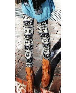 2014 فتاة شابة الرجعية الحياكة أزياء عارضة البرية الغزلان ندفة الثلج طماق بانت الشتاء الدافئ الثلوج السراويل يغطي الرجل شحن مجاني