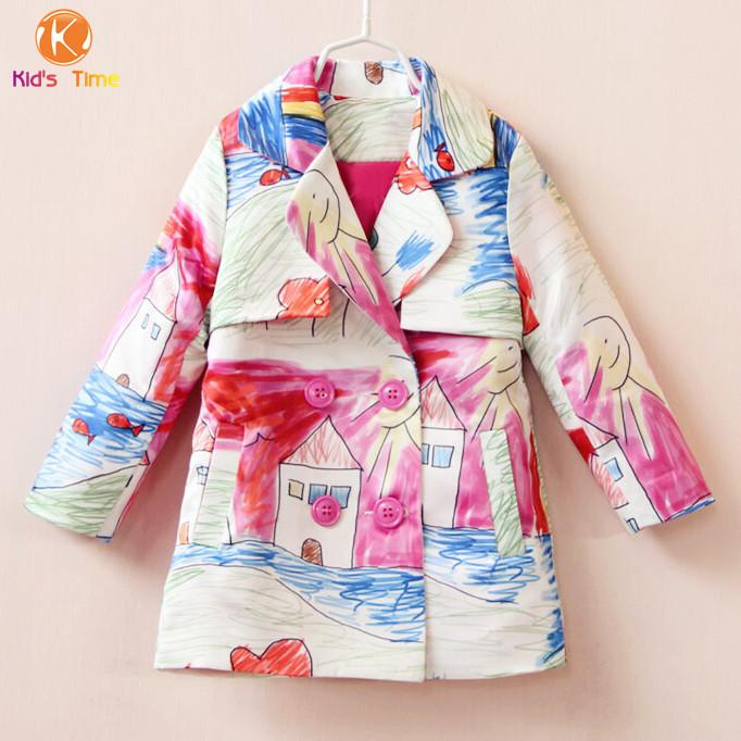 New Brand 2016 Designer Baby Girl Autumn&Winter Long Style Coat ...
