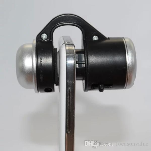Microscópio do telefone móvel lente micro 30x zoom óptico telescópio lente da câmera clipe universal para iphone samsung htc sony lg blackberry 2 pçs / lote