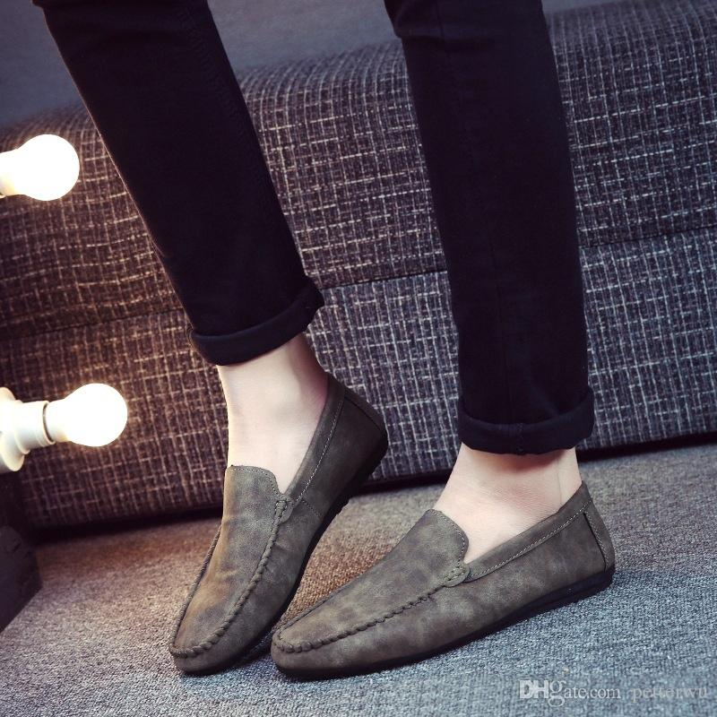 338635d98bd2a 2016 High Quality Suede Shoes Man Flat Shoes Fashion Mens Casual Shoes  Brand Loafers Men Plus Size YDX013 Leather Shoes Dress Shoes For Men From  Petterwu, ...