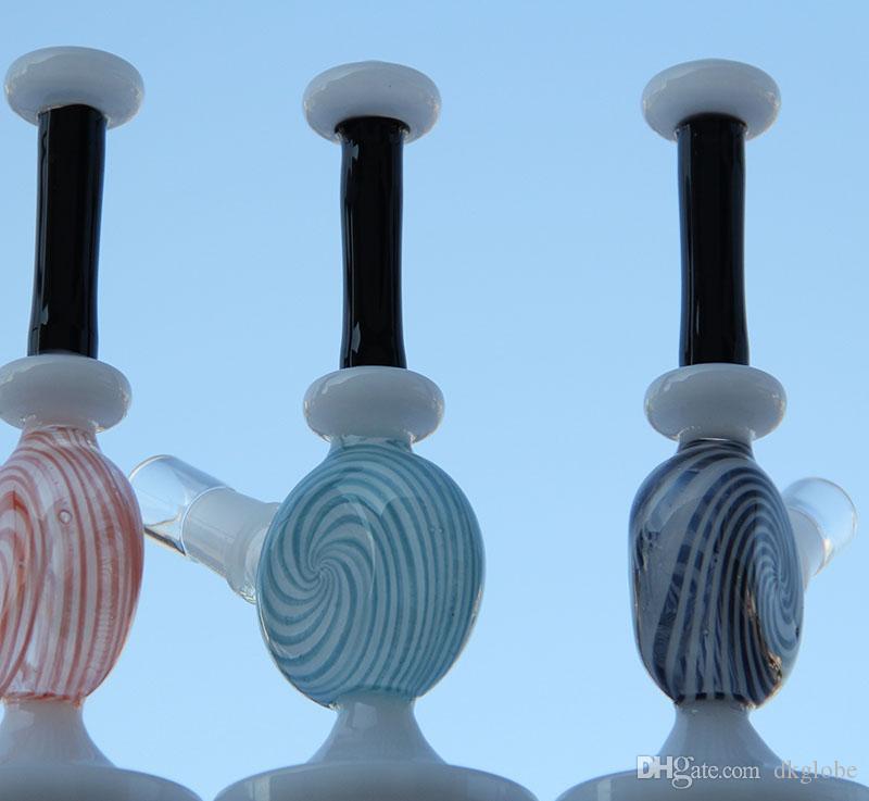 Yeni üç renk Su borusu Mini cam bong petrol kulesi dab sigara boru cam boru tırnak kubbe kase with14.4 mm eklem var