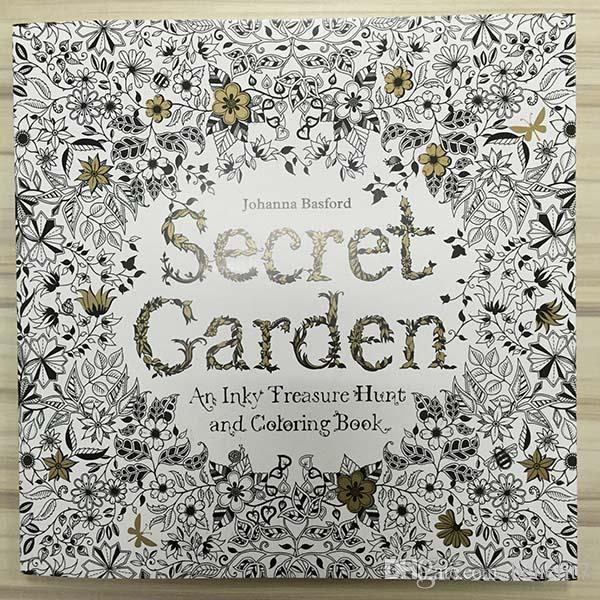 Secret Garden An Inky Treasure Hunt And Colouring Book For Adult Kids Creative Therapy Doodling Drawing Books Adhesive Binding DHL