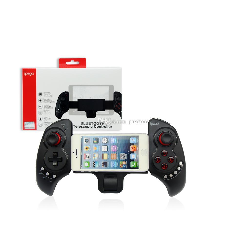 100% auténtico Ipega PG9023 inalámbrico Bluetooth Telescópico Juego Controlador de juegos Gamepad Joystick para Smartphone IPAD Android iOS Pad Tablet