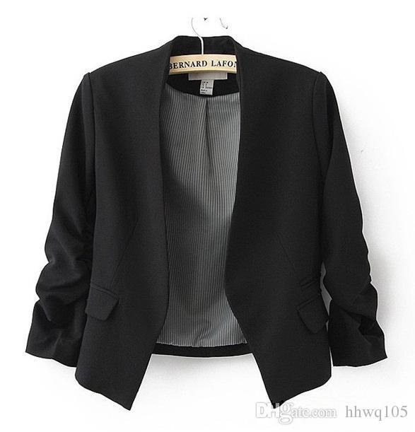 Bayanlar Blazer Ceket Bahar Yeni Katı Renkli Süet Ceketler İnce Fit Bayan Ofis İş Zekası Hırka Kaban Dış Tişört HOD1001
