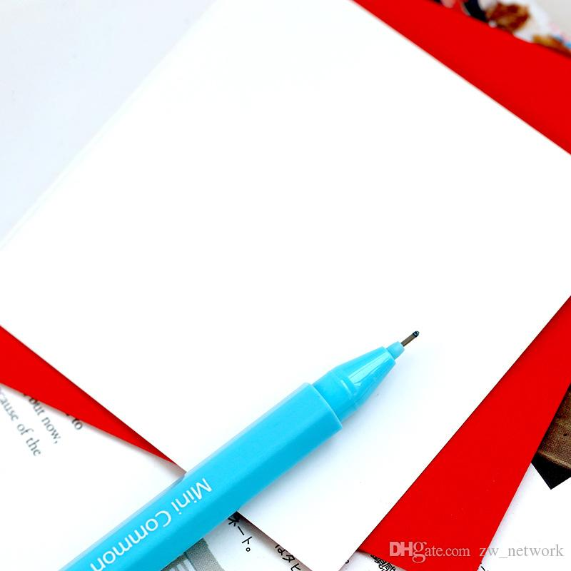 / carte de voeux de dessin animé mignon mini carte de voeux définit la carte de bénédiction de message avec des enveloppes