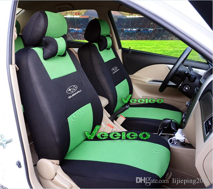 Universal Seat Cover For SUBARU Forester Outback Xv Brat Vivio Ecvt By Breathable Material Airbag Compatible Logo Wholesale Car Covers Sets