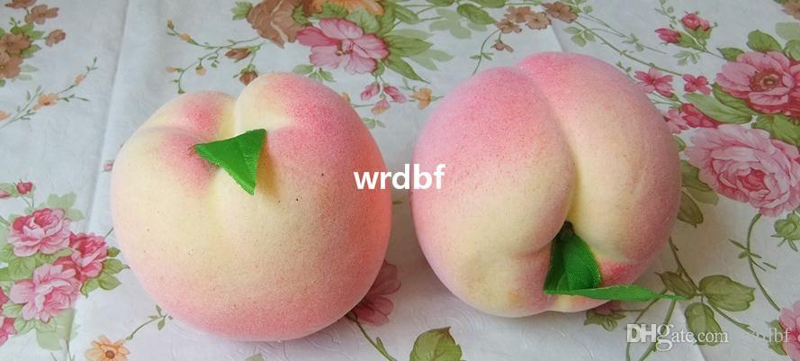 Gorący fałszywy brzoskwinia 8cm * 7 cm brzoskwini sztuczna symulacja różowe brzoskwinie Owoce Dekorceacje dla fotografii ślubnej rekwizyty