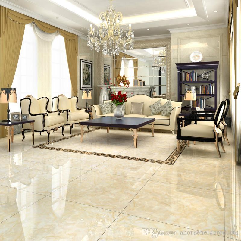 2019 600 * 600mm Interior Tiles Room Floor Tile Dirt Resistant Full ...