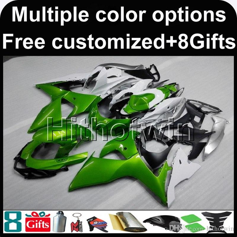 23colors+8Gifts GREEN GSXR1000 2009 2010 2011 2012 2013 2014 2015 2016 GSX-R1000 09-16 K9 motorcycle Fairing for Suzuki