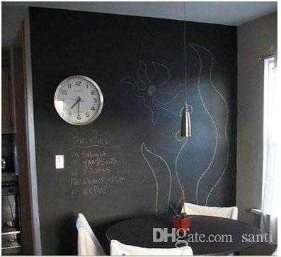 Fashion Hot 45x200CM Removable Blackboard Sticker Vinyl Chalkboard Wall Sticker Children toy education toy painting board