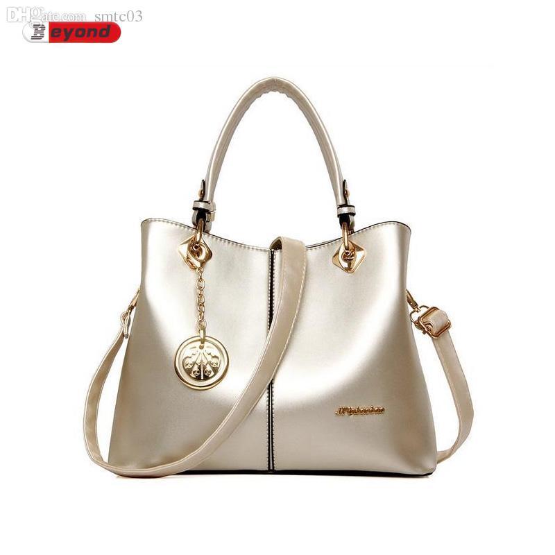 5804a244a660 Wholesale Women Handbags Original Brand Elegant Bag Ladies PU Leather  Fashion Handbag For Woman Gold Top Handle Bags Women S Crossbody Handbag  Brands Cheap ...