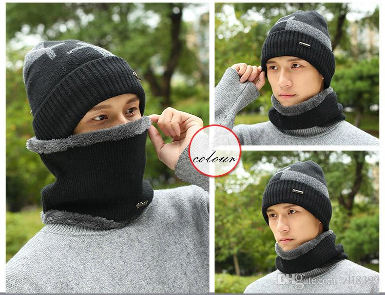 2019 2017 New Knitted Winter Hat Scarf Beanies Knit Men S Winter