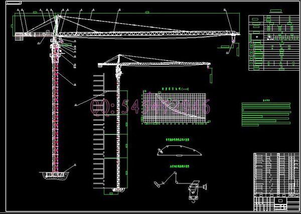2019 Qtz125 Tc6313 Tower Crane Drawings Full Machining