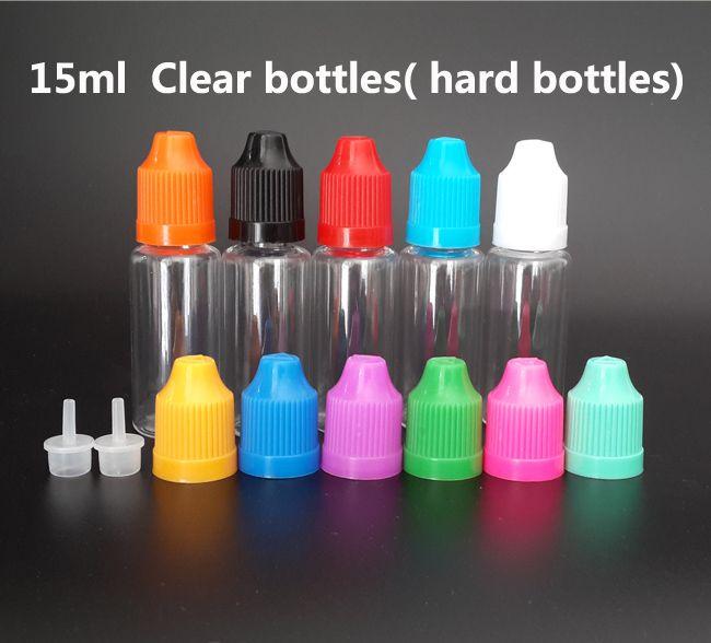 5 ml 10ml 15ml 20ml 30ml 50ml 애완 동물 맑은 병 아동 증거 모자와 전자 액체에 대 한 미세 팁 빈 플라스틱 dropper 병