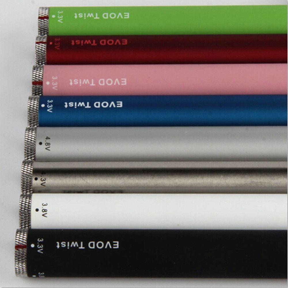 2021 Evod Twist Переменное напряжение 3,2-4,8 В Аккумулятор 650 900 1100 мАч VS Ecigs Vision Spinner 2 3 3S Vape Pens DHL