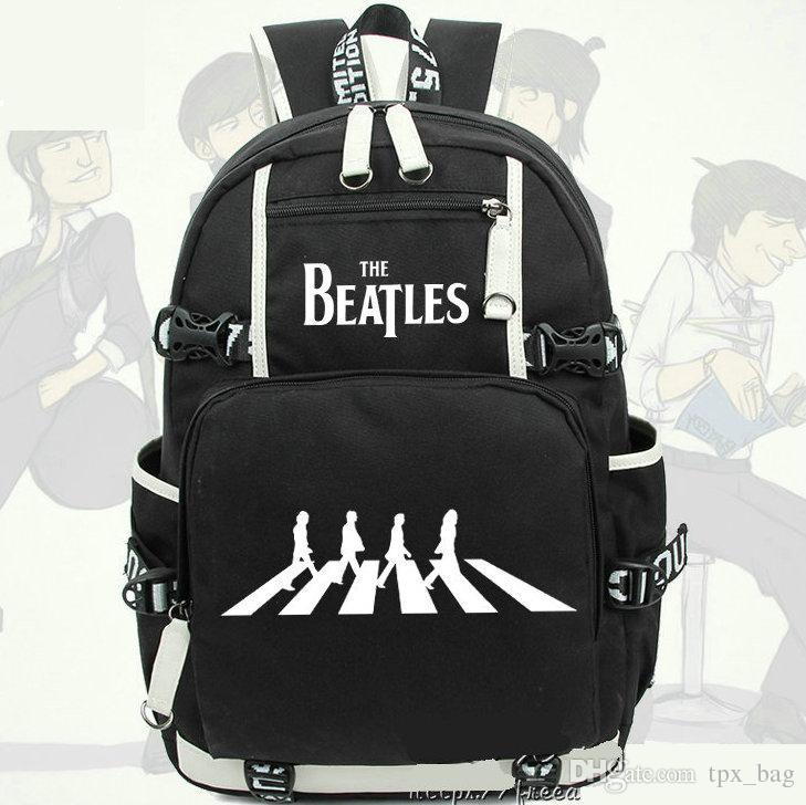 649e77a2762 Compre Mochila De John Winston Lennon Mochila De Los Beatles Mochila De La  Banda De Rock Mochila De Música Mochila Escolar Deportiva Mochila De Día Al  Aire ...