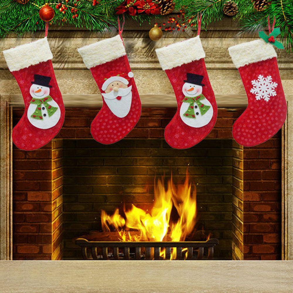 Chimney Christmas Decorations hot sale christmas tree hanging socks/stockings for chimney