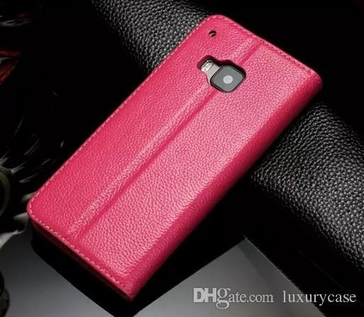 Venda quente para htc m9 case carteira de luxo virar Genuine Stand Capa Colorido Ultra-Fino Bonito Estojo De Couro Fino Para HTC One M9