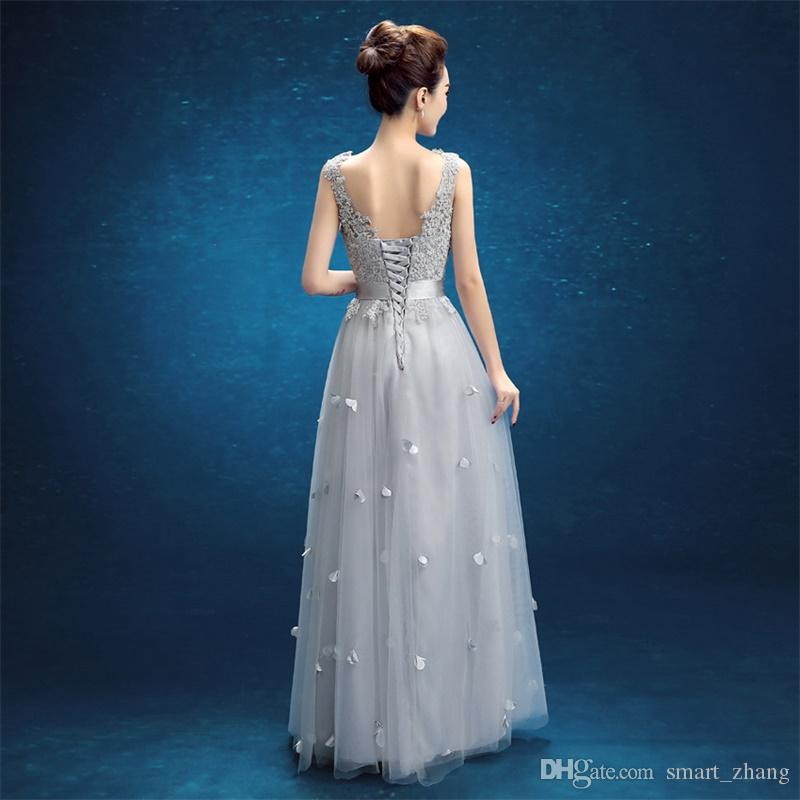 New Stock Evening Dresses Elegant V-Neck Girls Dress Sexy Backless Long Ball Prom Party Pageant Graduation Formal Dress/Gown