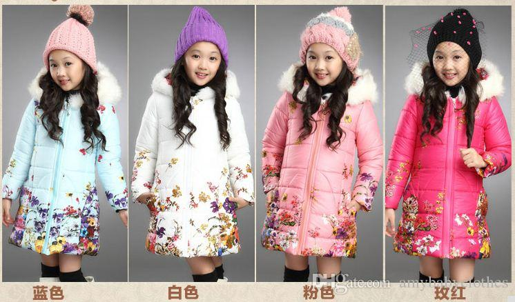 2015 девочек ватник пальто дети зима Новый корейский тонкий талии хлопок куртка длинные участки бесплатная доставка