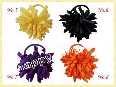 titulares de rabo de cavalo korker flâmula para misturar cores corker pônei streamer colorido com cabelo elástico de cabelo corda acessórios crianças PD006