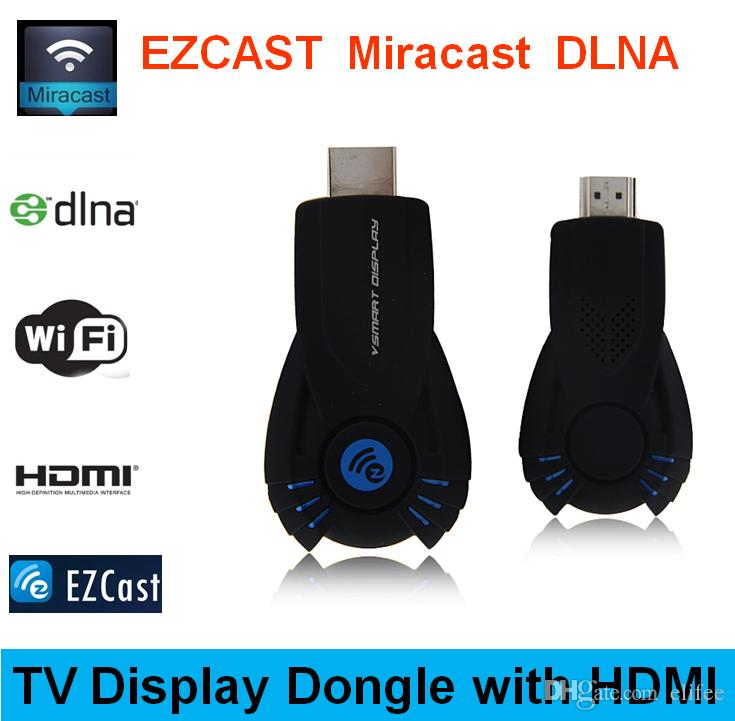 Smart Cast VSMART V5ii Ezcast DLNA Miracast Airpaly Mirrorop for iPhone  Android Phone Laptop PC OTA Smart TV Dongle