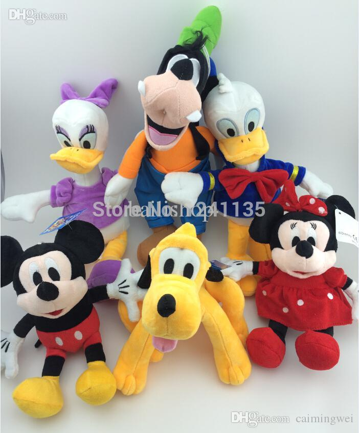 Wholesale-6pcs/set Mickey And Minnie Mouse Plush Toy,Donald Duck And ...