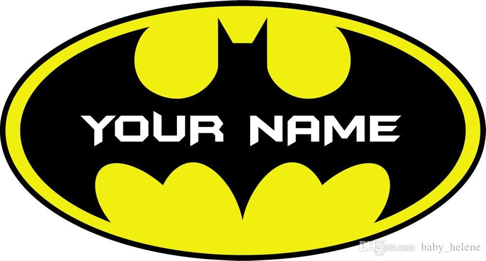 Personalised Batman Logo Decal Removable Wall Sticker Home Decor Art ...
