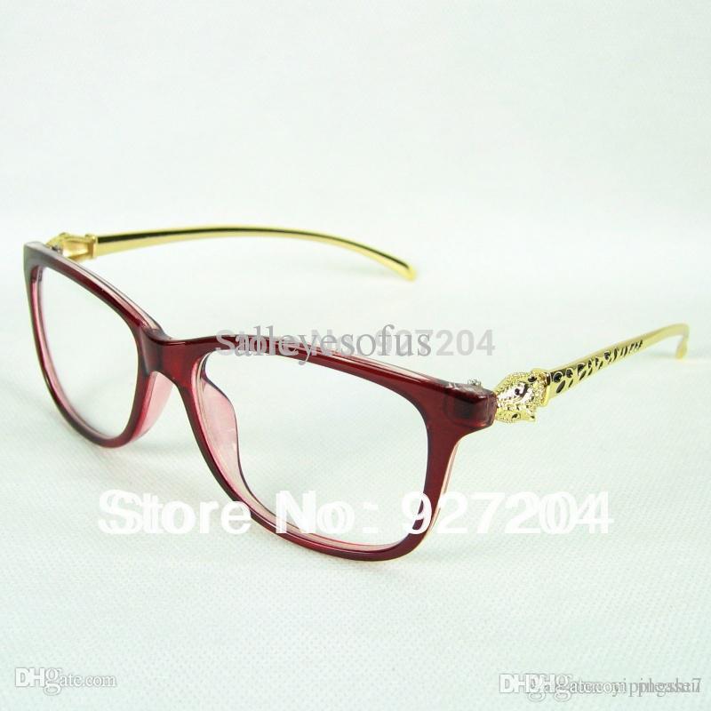 634a4b1f1e8 Acheter Sexy Lady Luxury Optical Glasses Leopard Head Styling Metal Temples  Avec Bonne Qualité Plastic Frame Gift Pouch And Cloth De  29.64 Du Please7  ...