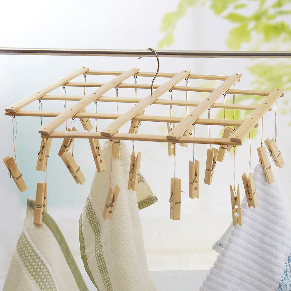 zag rack pantoufle drying clothes zig wooden traditional beechwood