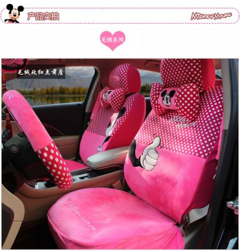 Suede Hot Pink Polka Dot Mickey Mouse Car Seat Covers Best Cover From Oilandwatches 15578
