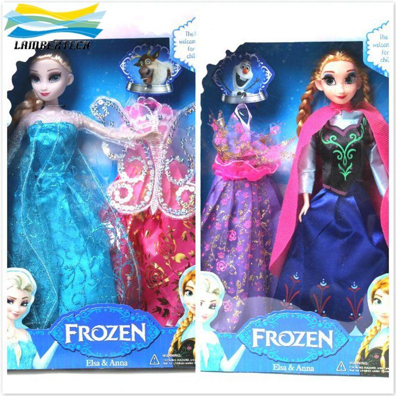 2015 Cheap Frozen Princess Elsa & Anna Doll With Dress Best Figure ...