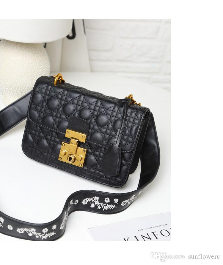Popular High Quality New Ladies Casual Crossbody Bag Female Handbags  Genuine Leather Shoulder Purse Women Classic Embroidery Messenger Bags  Cheap Bags Cute ... 9bd28fec2e639