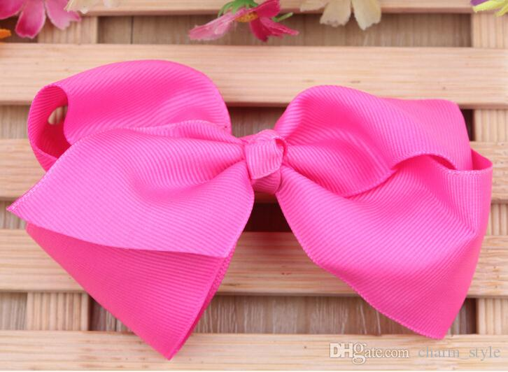 6INCH big bow hairpin! Christmas gift! Children girls hair accessory!baby girl Boutique Hair Bows Alligator Clip Grosgrain Ribbon /