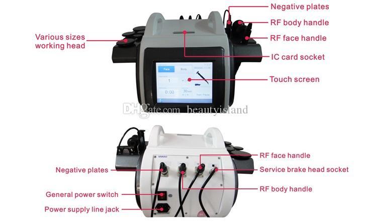 Máquina de RF monopolar profissional para enfraquecimento do face Máquina de radiofrequência da remoção do queixo do queixo do queixo para o uso do salão de beleza da clínica
