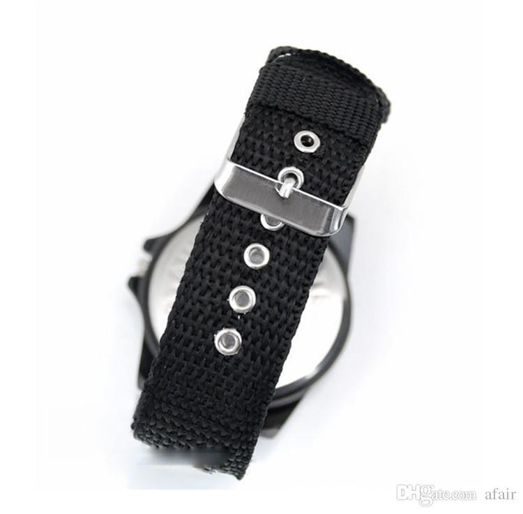 2016 Moda de Lujo Analógico Suizo Gemius Tela de Tela de Ejército Relojes de pulsera Deporte Estilo Militar Relojes de pulsera para Ginebra cuarzo Relojes de Los Hombres