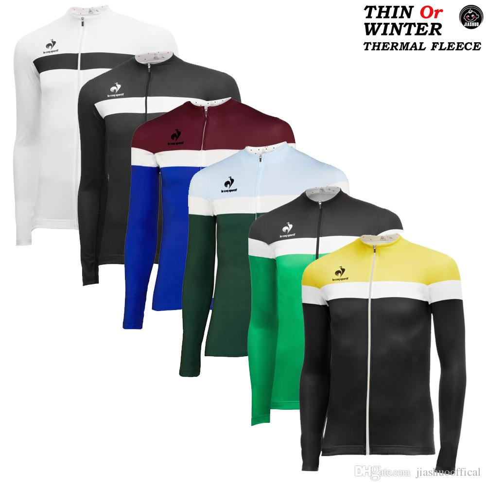 NEW Thin Or Winter Thermal Fleece NEW Multi Types France RACE Team Long Cycling  Jersey   Shirts   Tops Breathable Customized JIASHUO Cycling Jerseys Cycling  ... a95cde66d