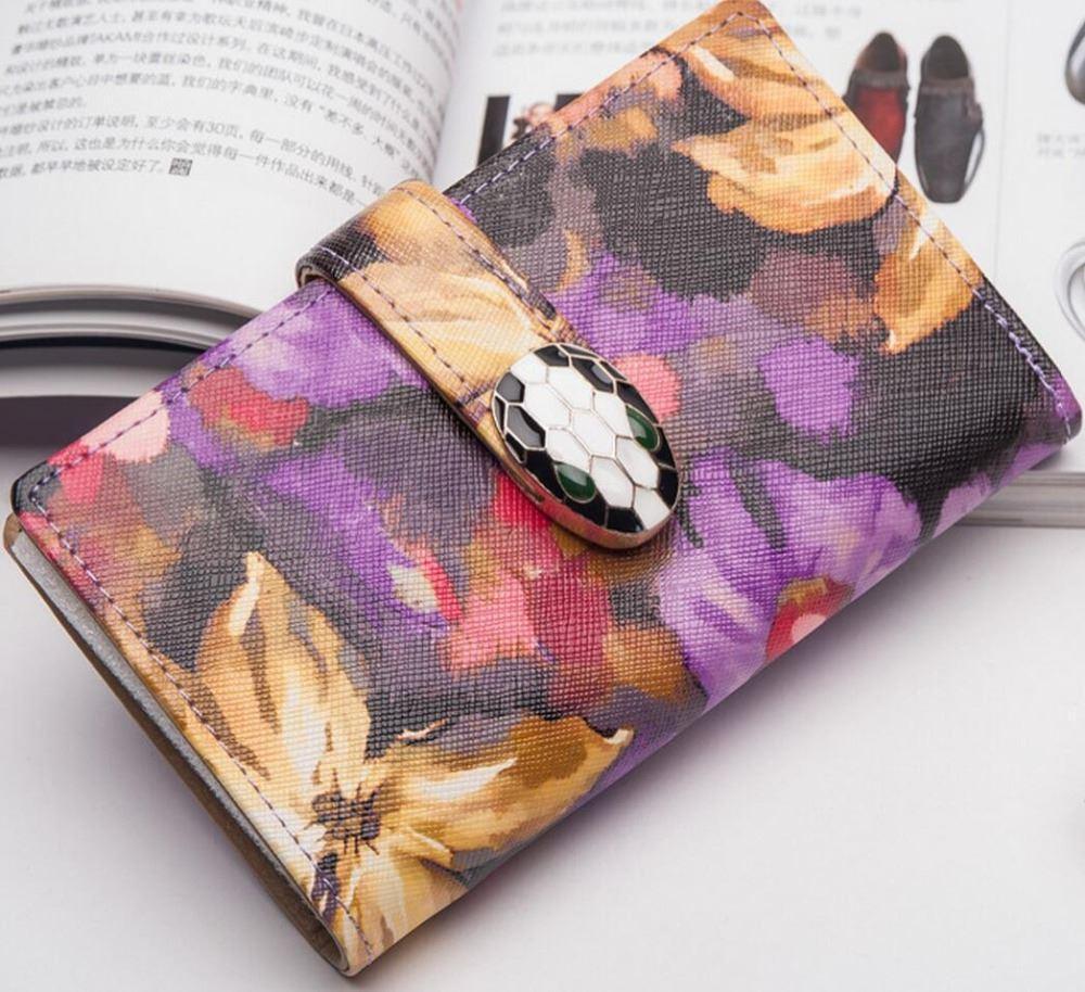 Großhandel 2017 Frauen Kurze Leder Brieftasche Carteras Mujer Floral ...