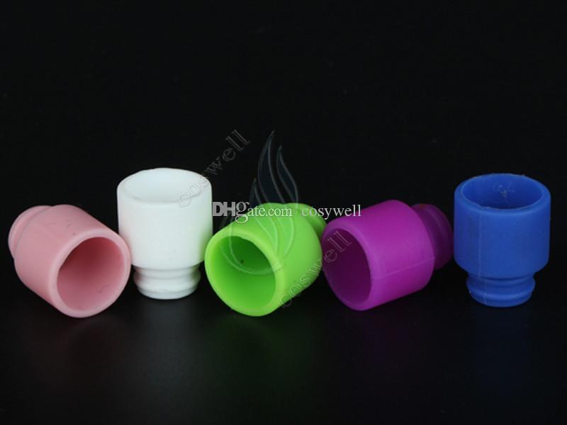 Couleur gel de silice jetable 510 drip tips énorme vaporisateur large alésage embout buccal goutteur pointe cig cigarette atomiseur réservoir RDA Dripping DHL