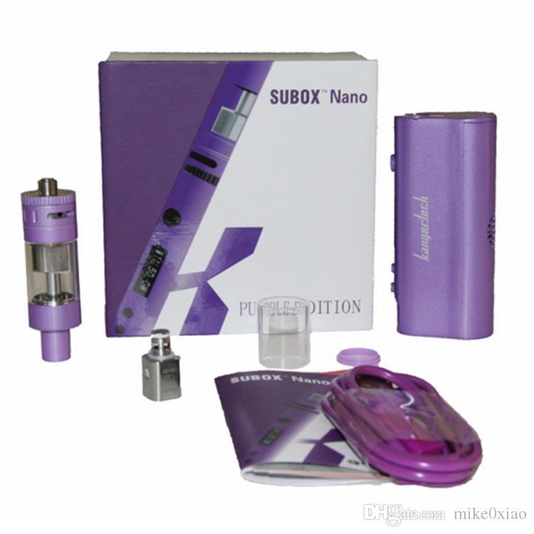 Orijinal kanger Subox Nano Başlangıç Kiti subox nano subox 50 W kutusu mod Değişken Watt Kutusu Mod E cigs sigara Kiti vs kanger subox mini