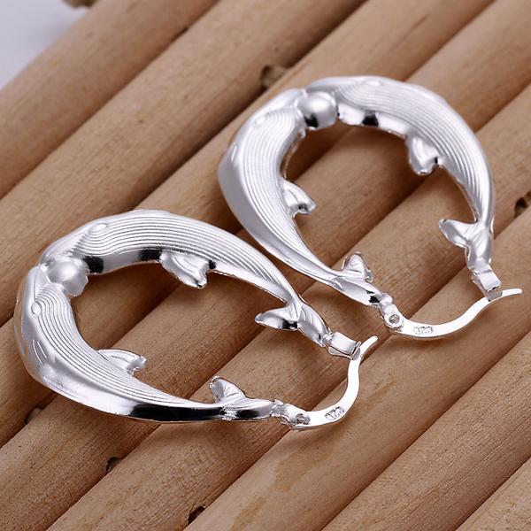 Мода стерлингового серебра 925 серьги полые овальные серьги высокого качества