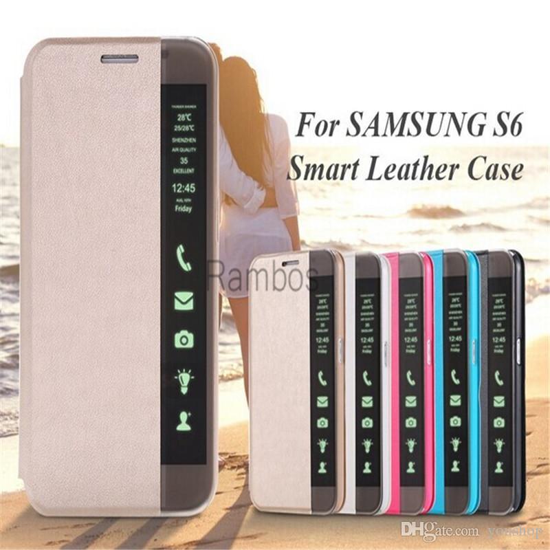 Para Huawei P8 Lite, ventana de visualización inteligente, tapa frontal, tapa de cuero, tapa, estuche, pantalla de identificación de llamadas, para Huawei P7 / P8 / Mate 7 / Honor 6 Plus