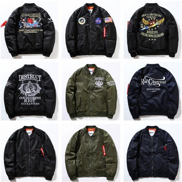 New West Coast Ma1 Jackets For Men Street Bomber Jacket Military ...
