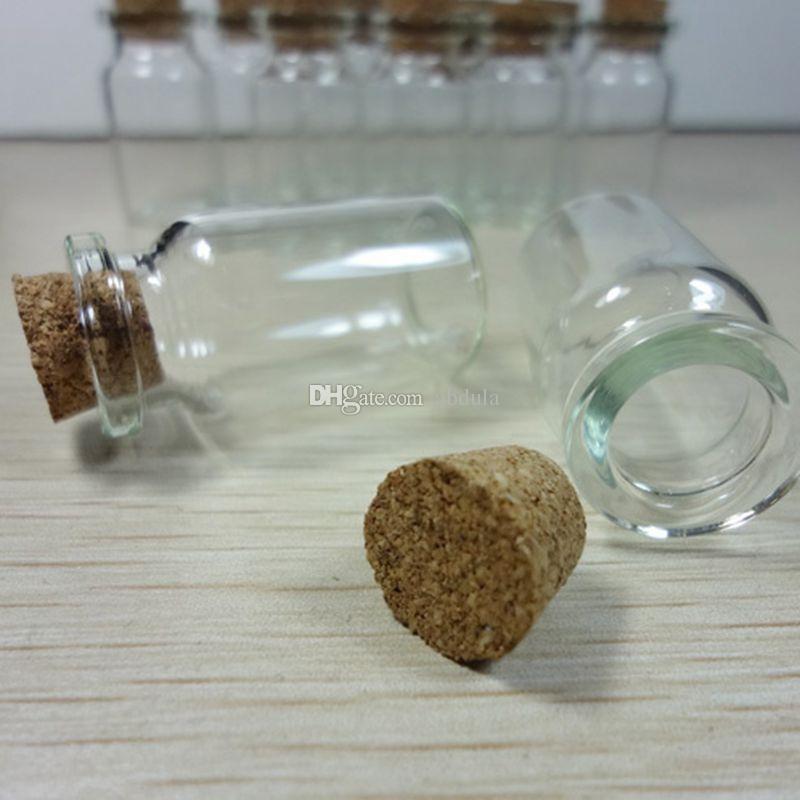100X Clear Glass Wishing Bottle Glass Bottles Jars Glass Wish Bottles Message Bottles With Cork Wish Note Craft Bottle Wishing Bottle Mini