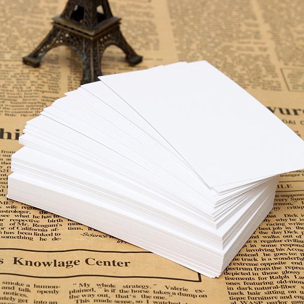 2015 200 pz Bianco Biglietti da visita in bianco 120 gsm - 90 x 55 mm - Stampa il tuo ordine DTY Craft $ 18no track